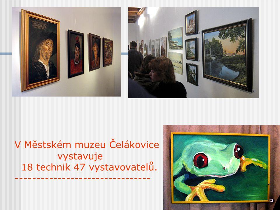 V Městském muzeu Čelákovice vystavuje 18 technik 47 vystavovatelů