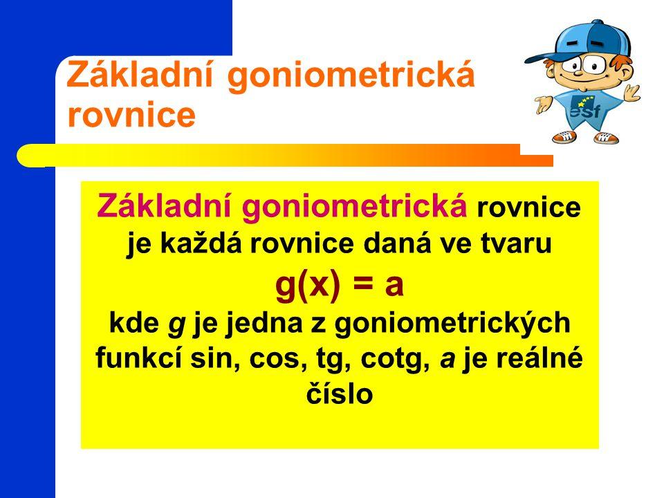 Základní goniometrická rovnice