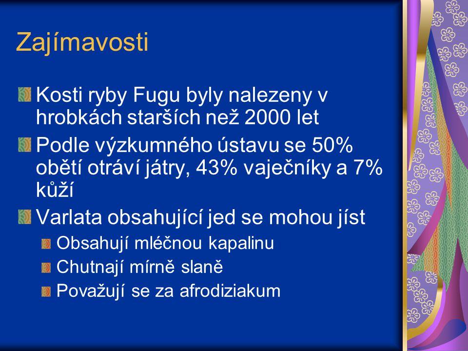 Zajímavosti Kosti ryby Fugu byly nalezeny v hrobkách starších než 2000 let.