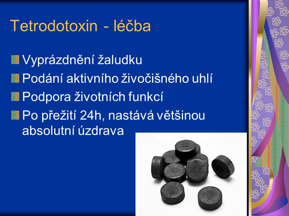 Tetrodotoxin - léčba Vyprázdnění žaludku