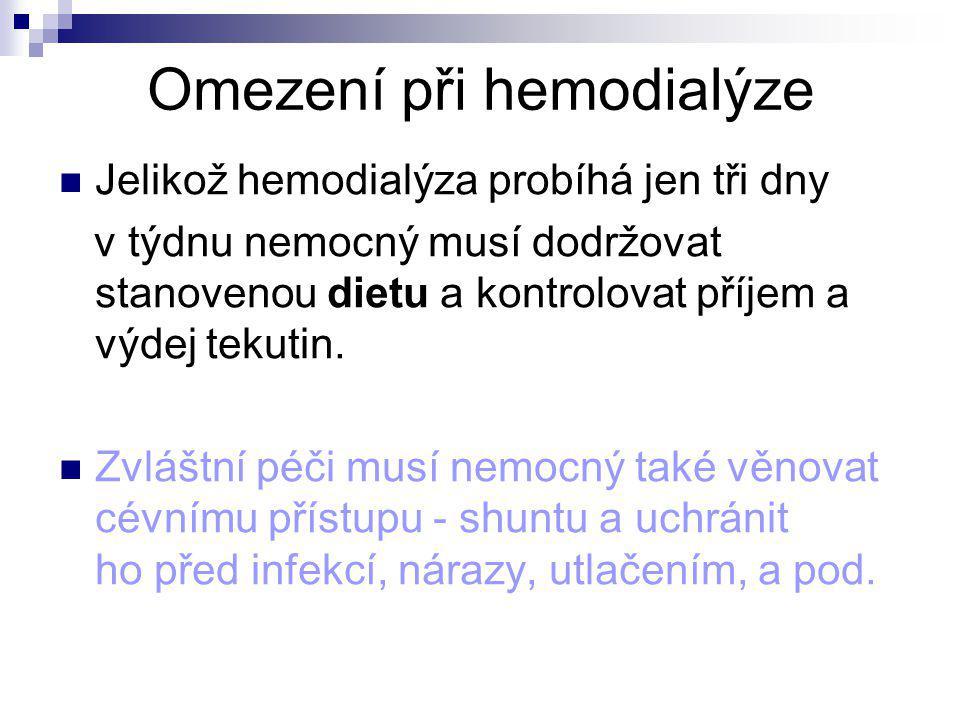 Omezení při hemodialýze