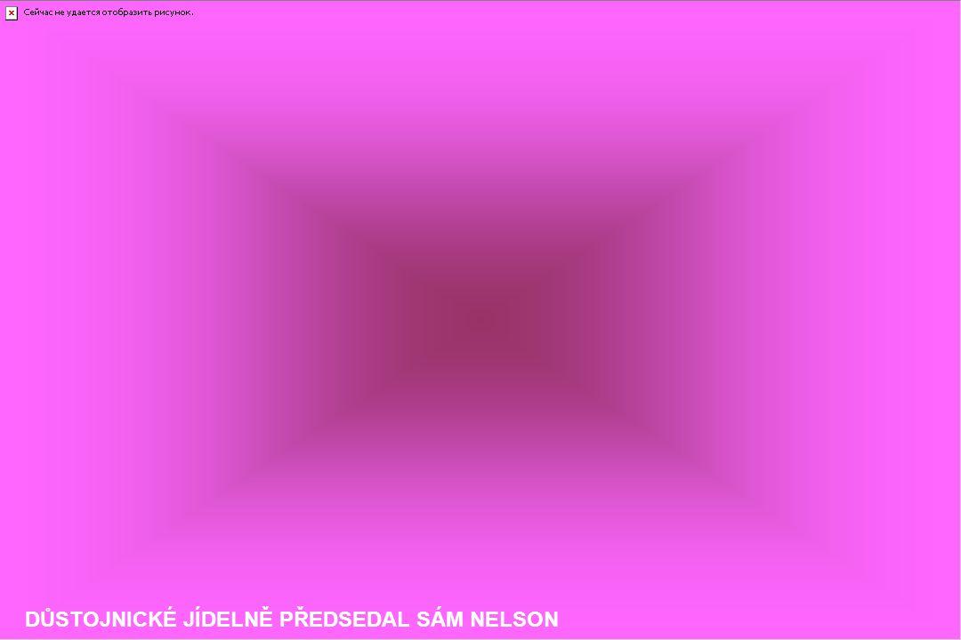DŮSTOJNICKÉ JÍDELNĚ PŘEDSEDAL SÁM NELSON