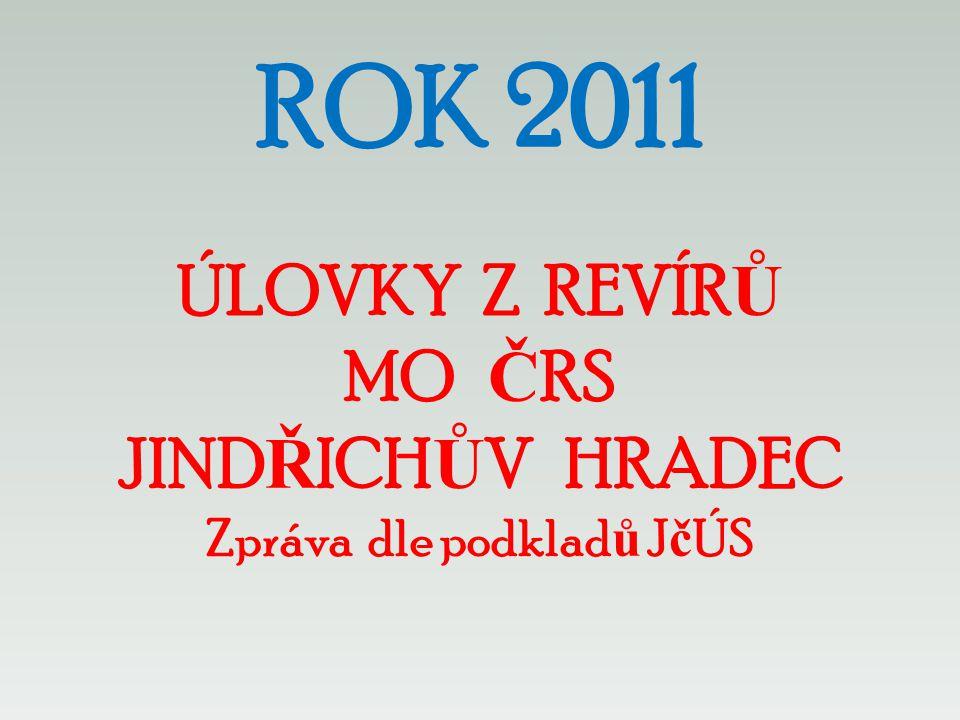 ROK 2011 ÚLOVKY Z REVÍRŮ MO ČRS JINDŘICHŮV HRADEC Zpráva dle podkladů JčÚS
