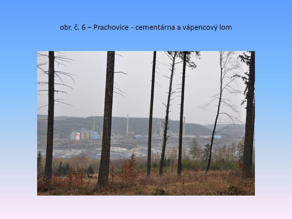 obr. č. 6 – Prachovice - cementárna a vápencový lom