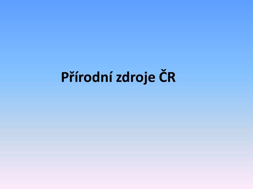Přírodní zdroje ČR