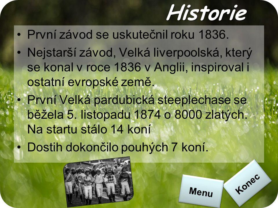 Historie První závod se uskutečnil roku 1836.