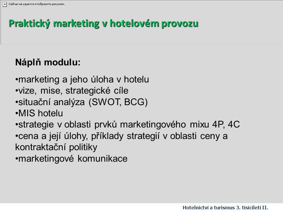 Praktický marketing v hotelovém provozu