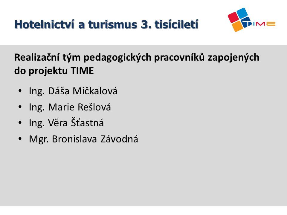 Realizační tým pedagogických pracovníků zapojených do projektu TIME