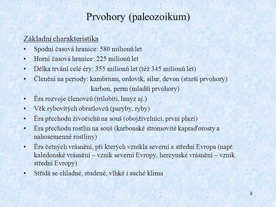 Prvohory (paleozoikum)