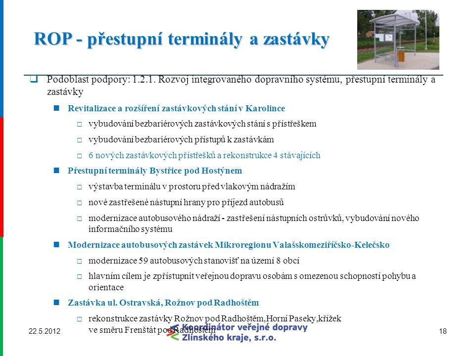 ROP - přestupní terminály a zastávky