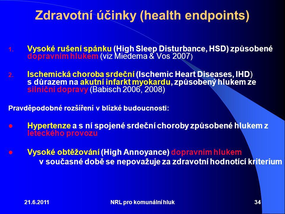Zdravotní účinky (health endpoints)