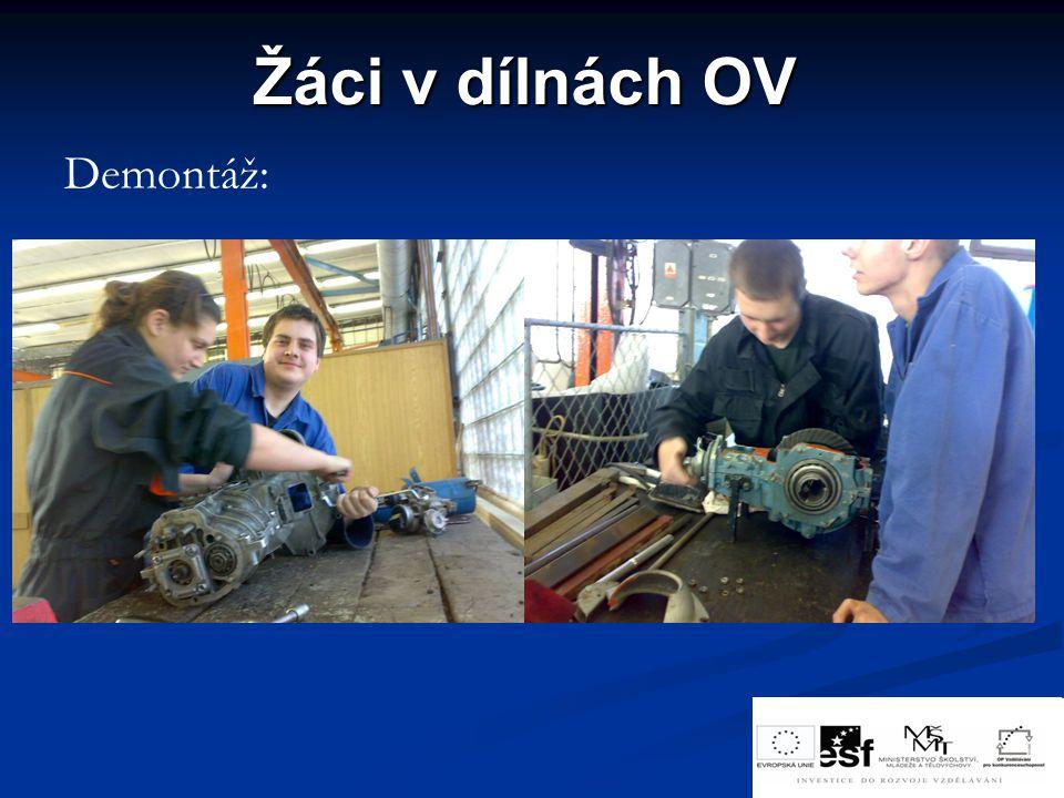 Žáci v dílnách OV Demontáž:
