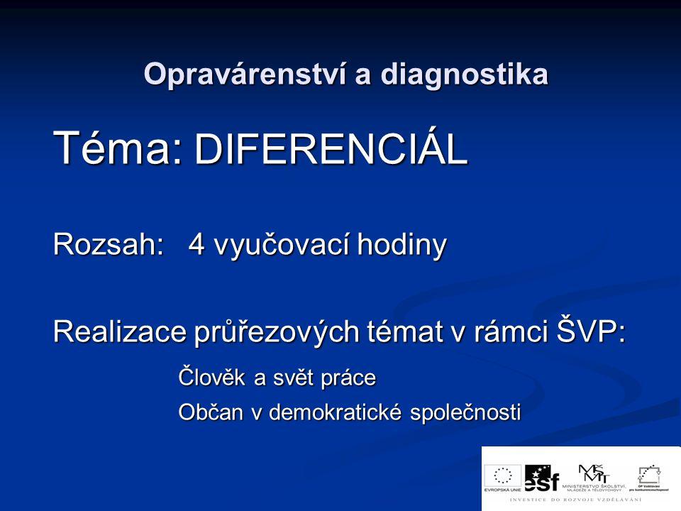 Opravárenství a diagnostika
