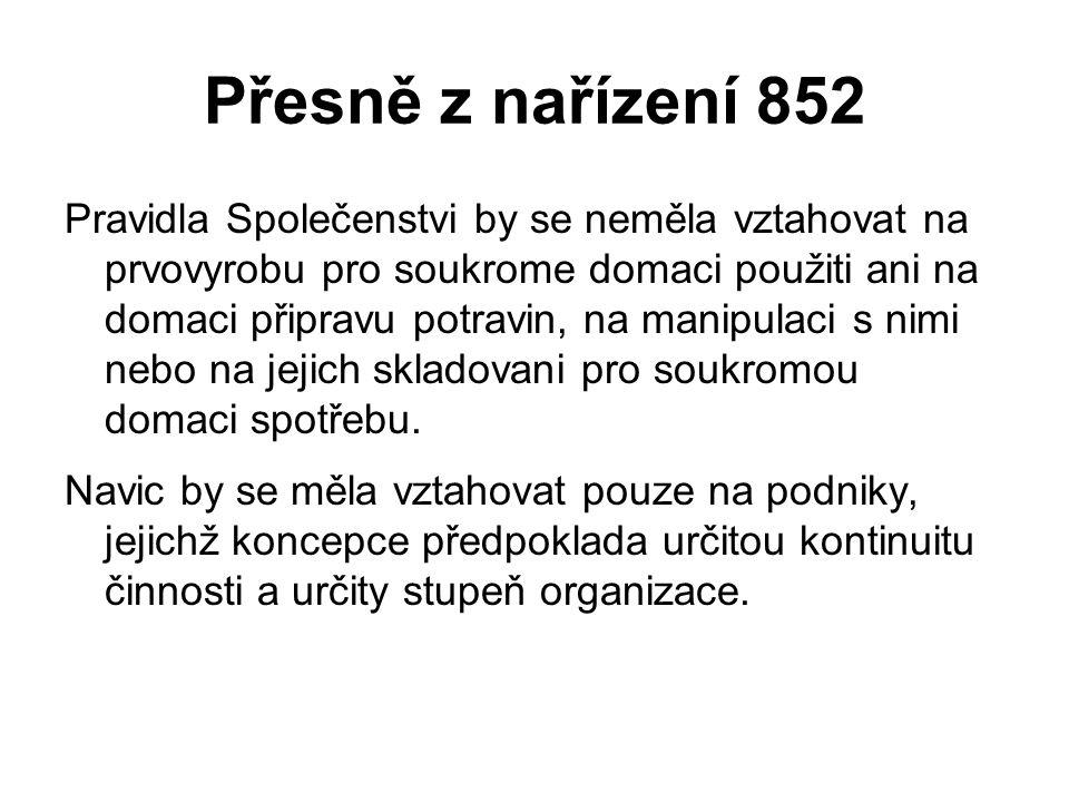 Přesně z nařízení 852