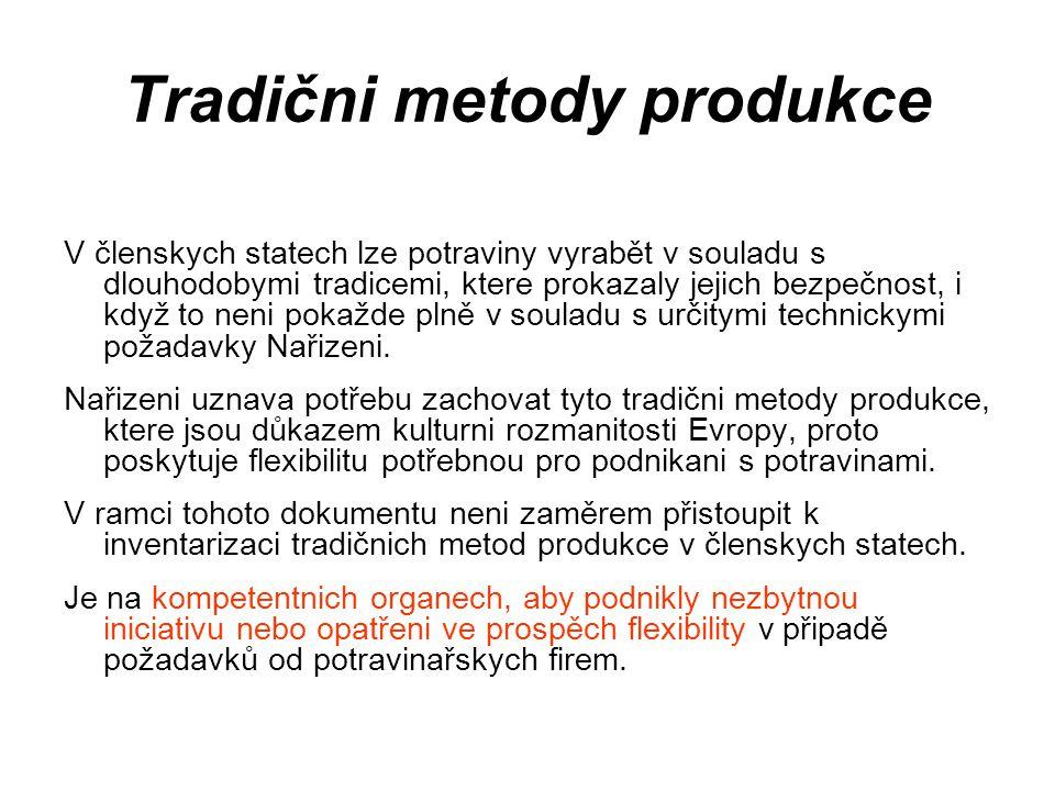 Tradični metody produkce