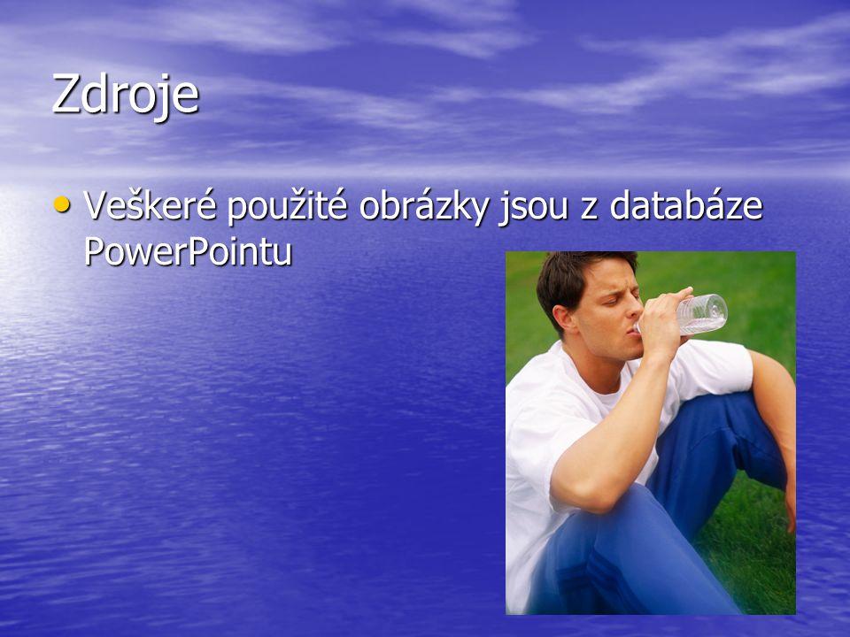 Zdroje Veškeré použité obrázky jsou z databáze PowerPointu