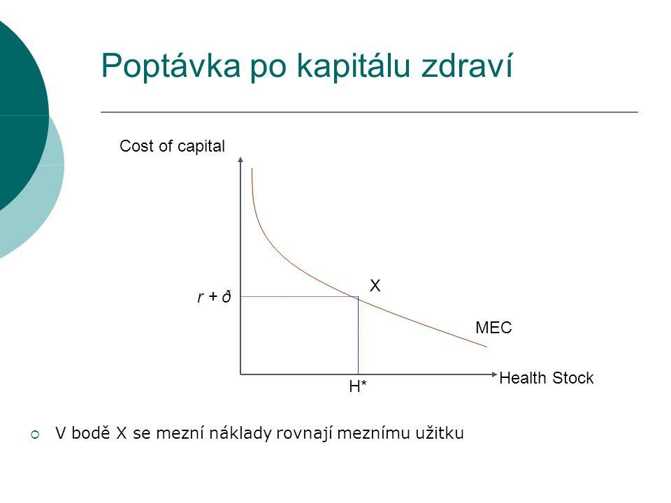 Poptávka po kapitálu zdraví