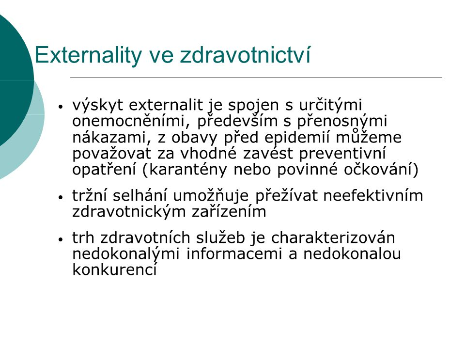 Externality ve zdravotnictví