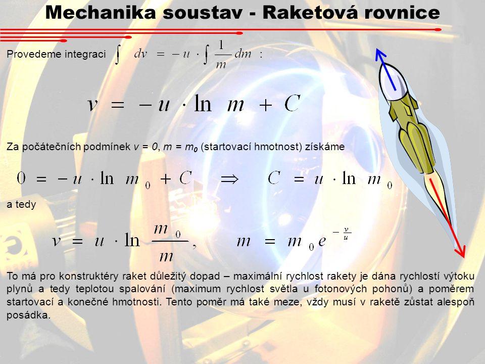 Mechanika soustav - Raketová rovnice