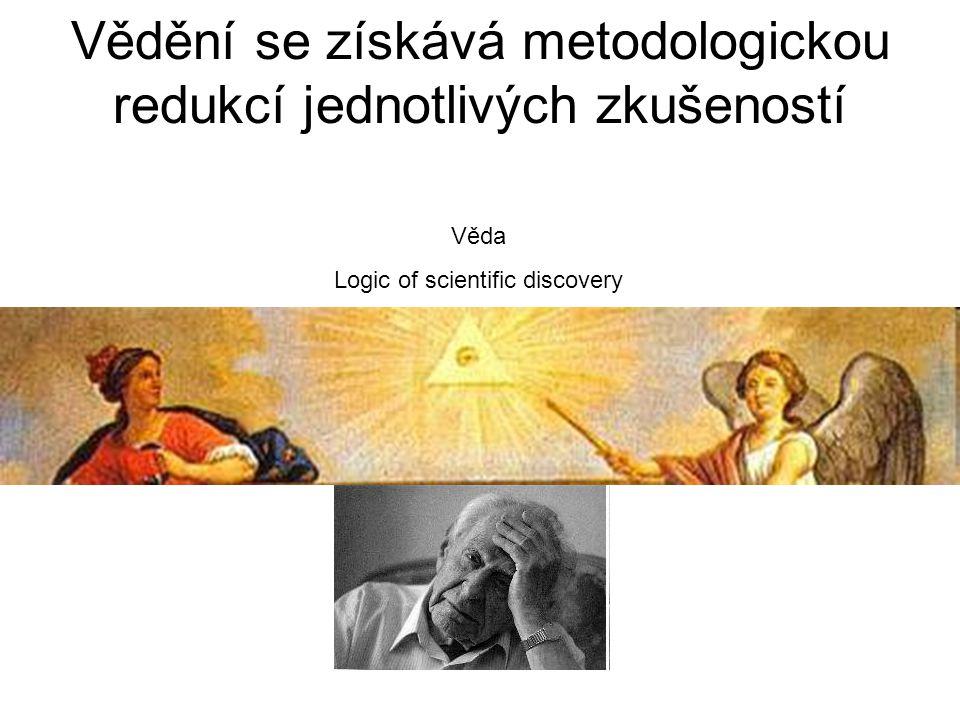 Vědění se získává metodologickou redukcí jednotlivých zkušeností