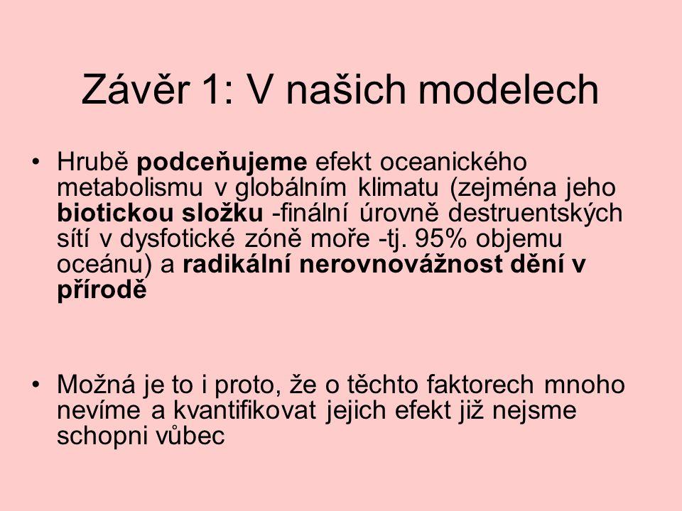 Závěr 1: V našich modelech