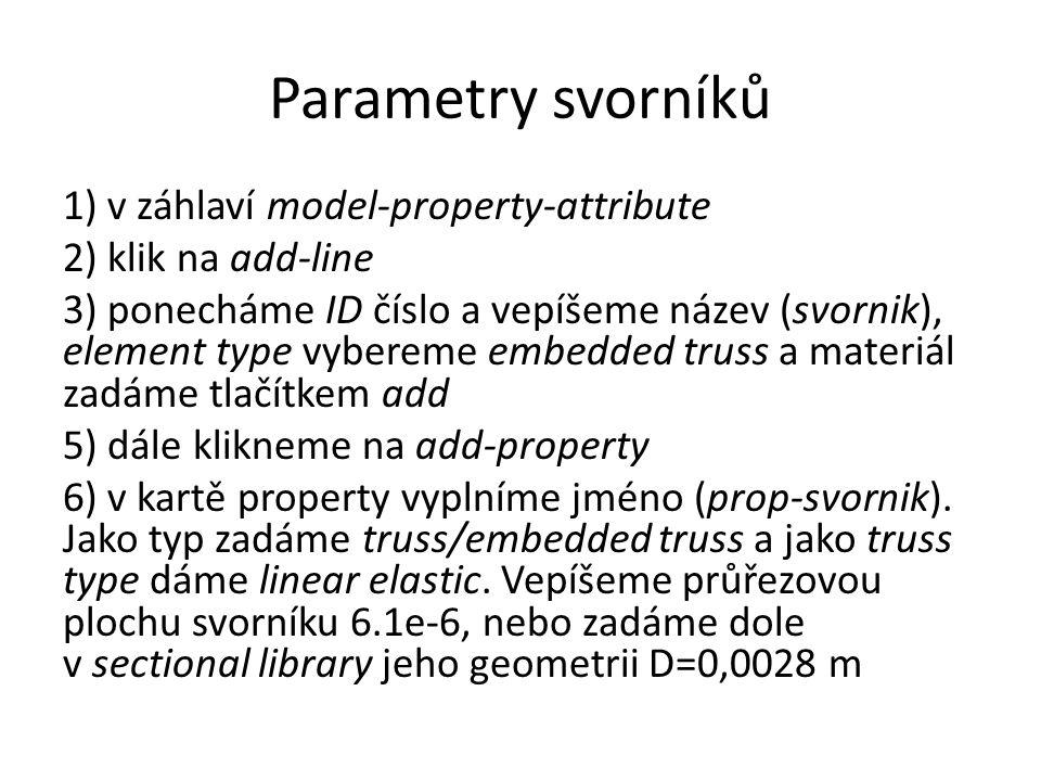 Parametry svorníků