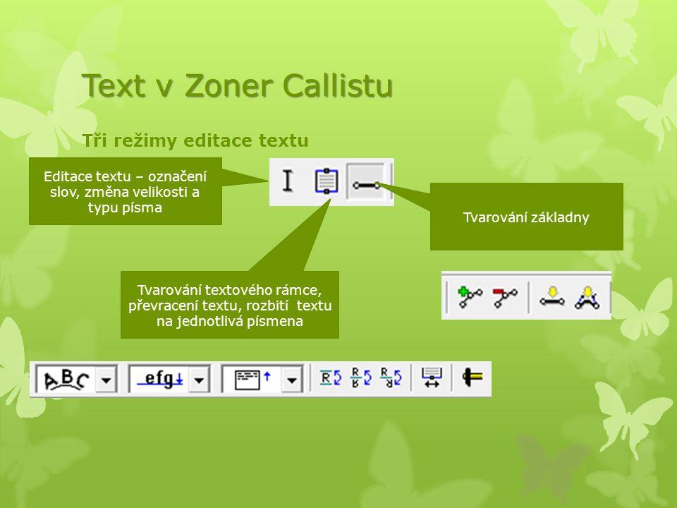 Editace textu – označení slov, změna velikosti a typu písma
