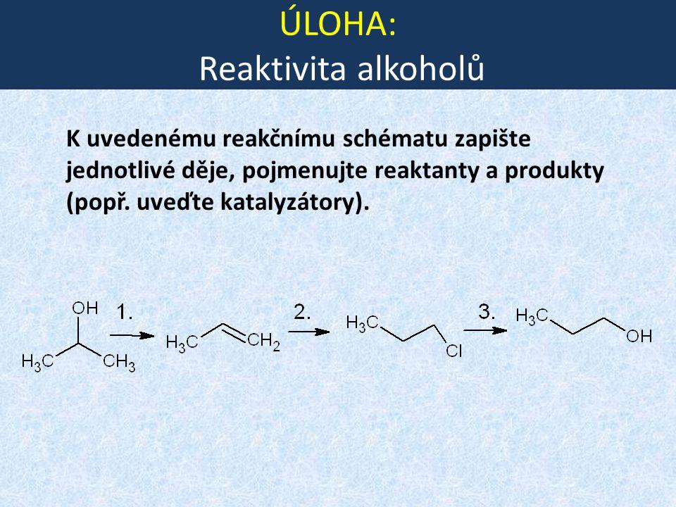 ÚLOHA: Reaktivita alkoholů