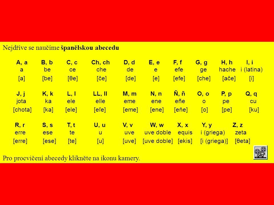 Nejdříve se naučíme španělskou abecedu