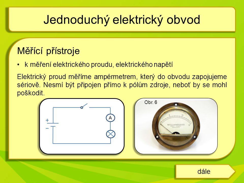 Jednoduchý elektrický obvod