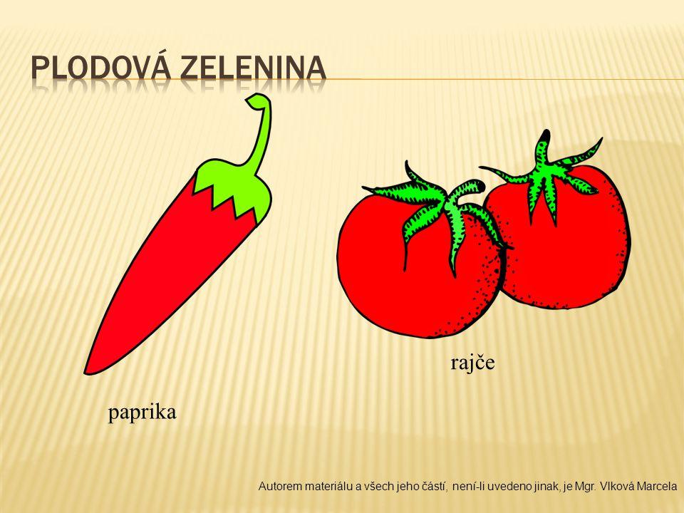 Plodová zelenina rajče paprika