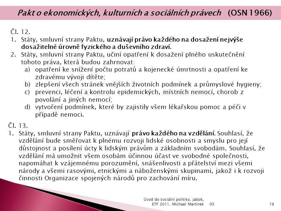 Pakt o ekonomických, kulturních a sociálních právech (OSN 1966)