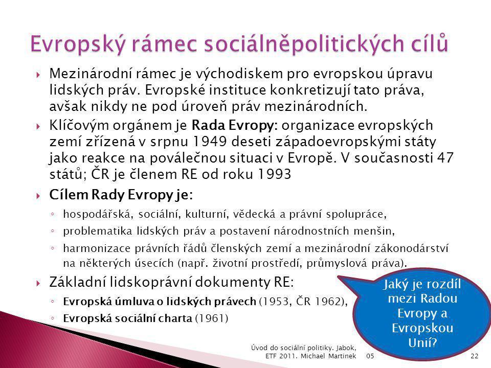 Evropský rámec sociálněpolitických cílů