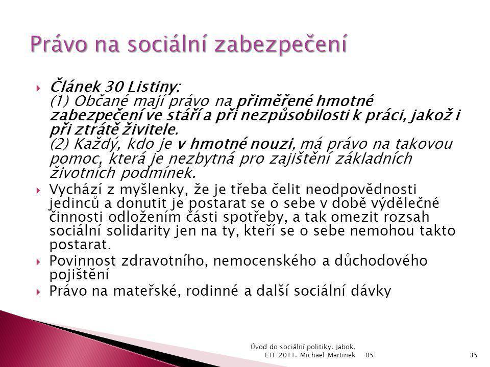 Právo na sociální zabezpečení