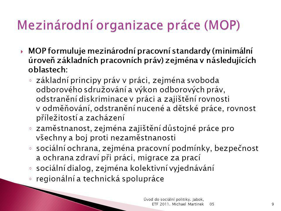 Mezinárodní organizace práce (MOP)