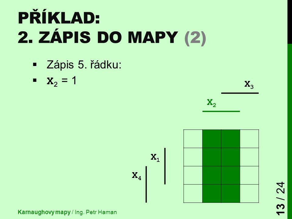 Příklad: 2. Zápis do mapy (2)