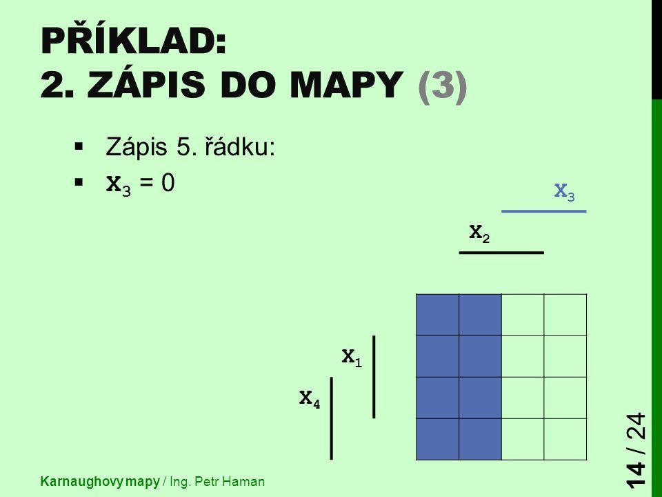 Příklad: 2. Zápis do mapy (3)