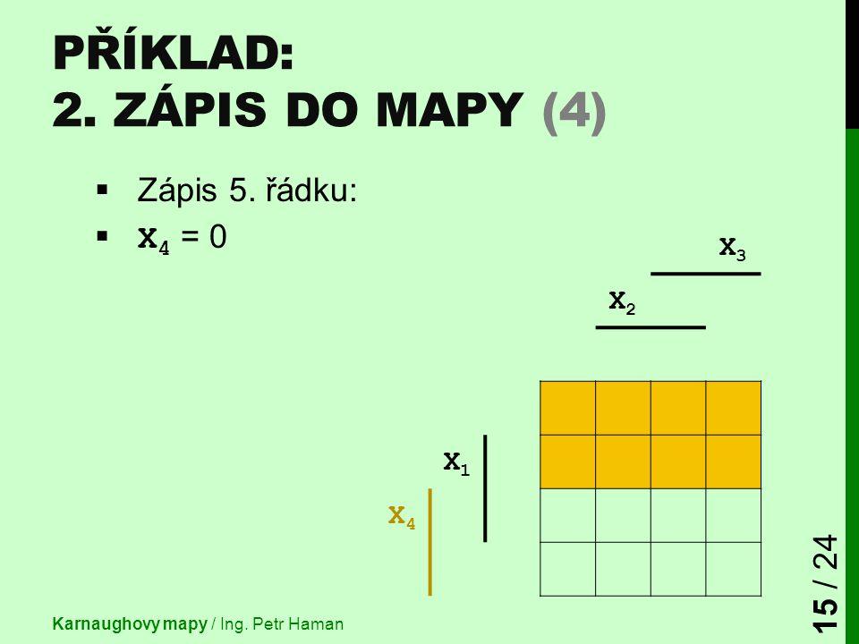 Příklad: 2. Zápis do mapy (4)