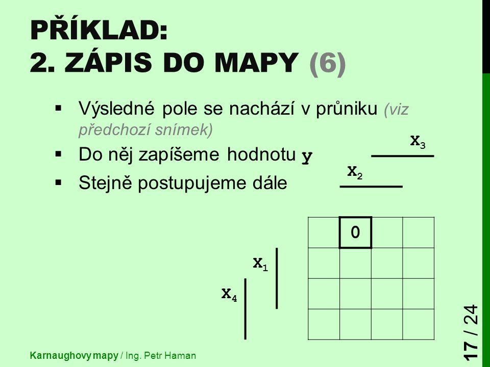 Příklad: 2. Zápis do mapy (6)