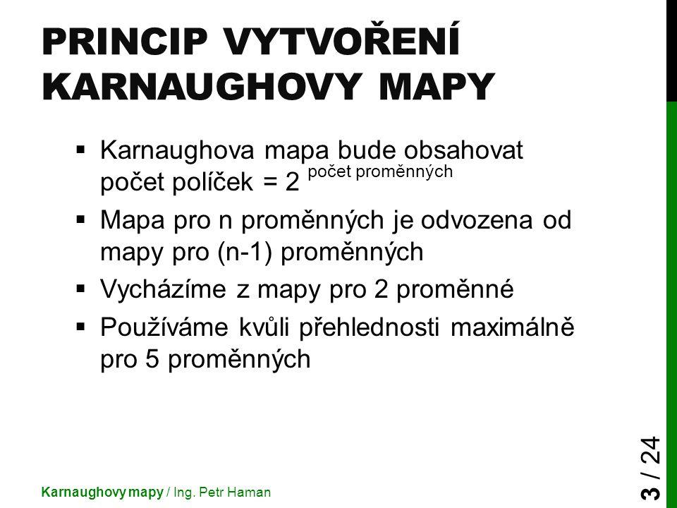 Princip Vytvoření Karnaughovy mapy