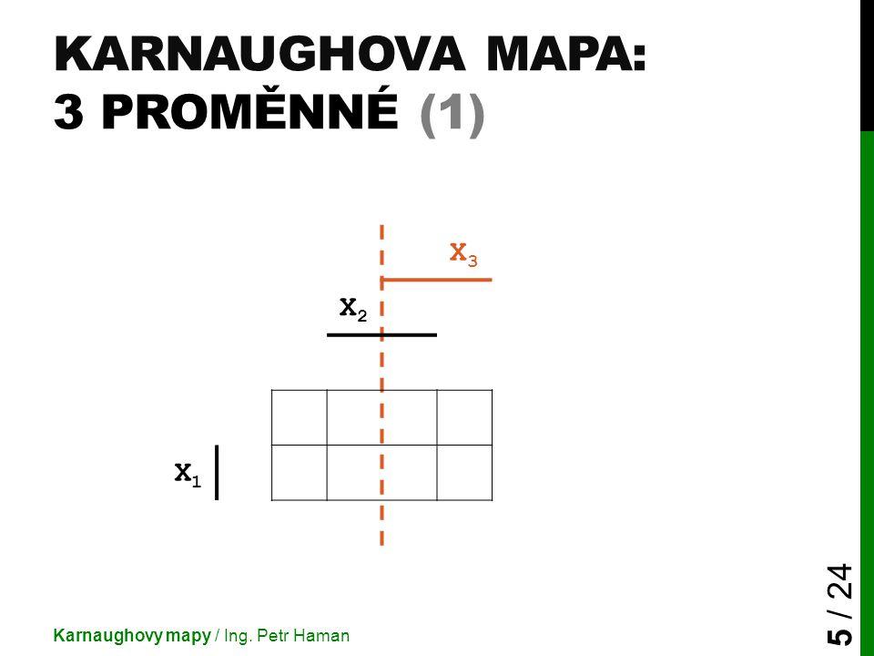 Karnaughova mapa: 3 proměnné (1)