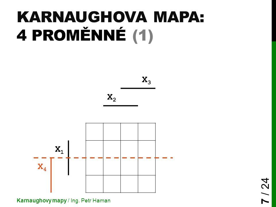 Karnaughova mapa: 4 proměnné (1)