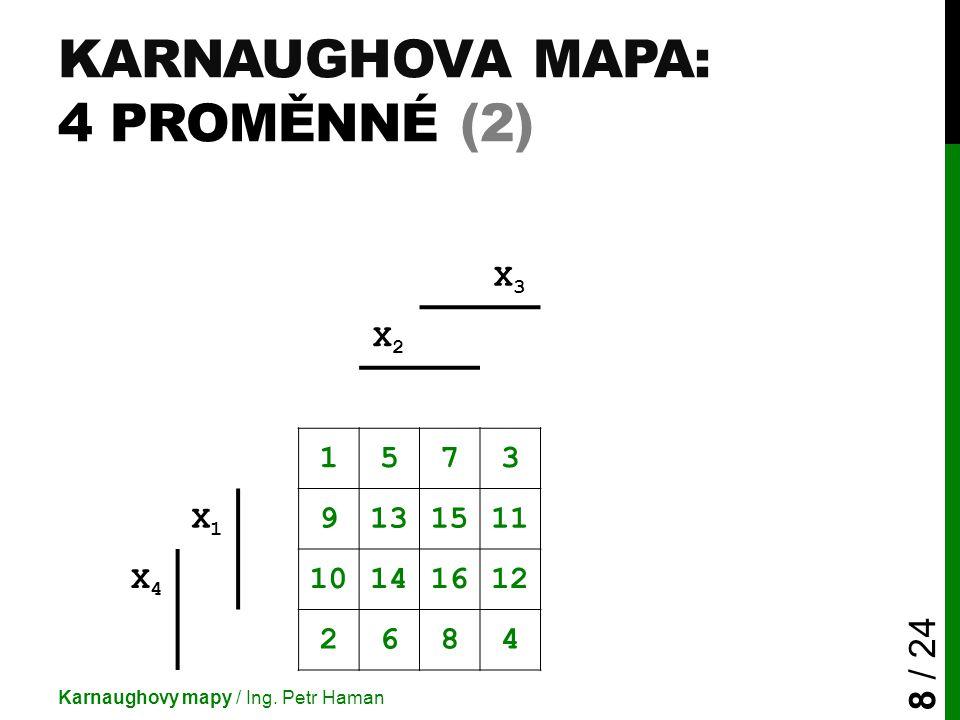 Karnaughova mapa: 4 proměnné (2)