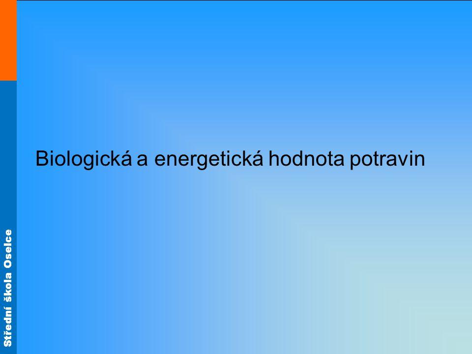 Biologická a energetická hodnota potravin