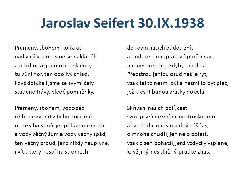Jaroslav Seifert 30.IX.1938