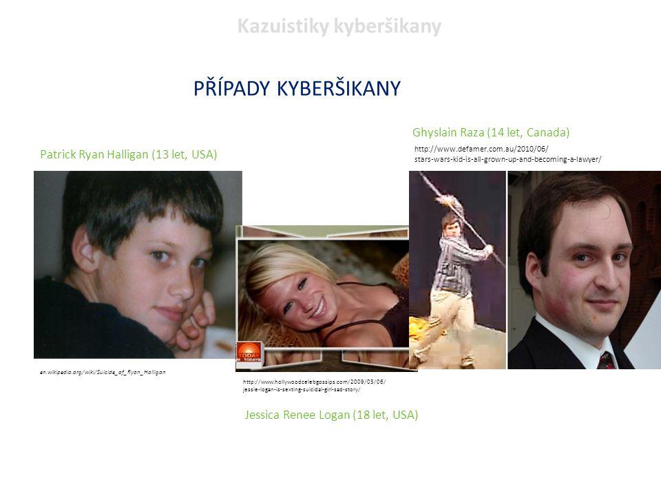 PŘÍPADY KYBERŠIKANY Kazuistiky kyberšikany