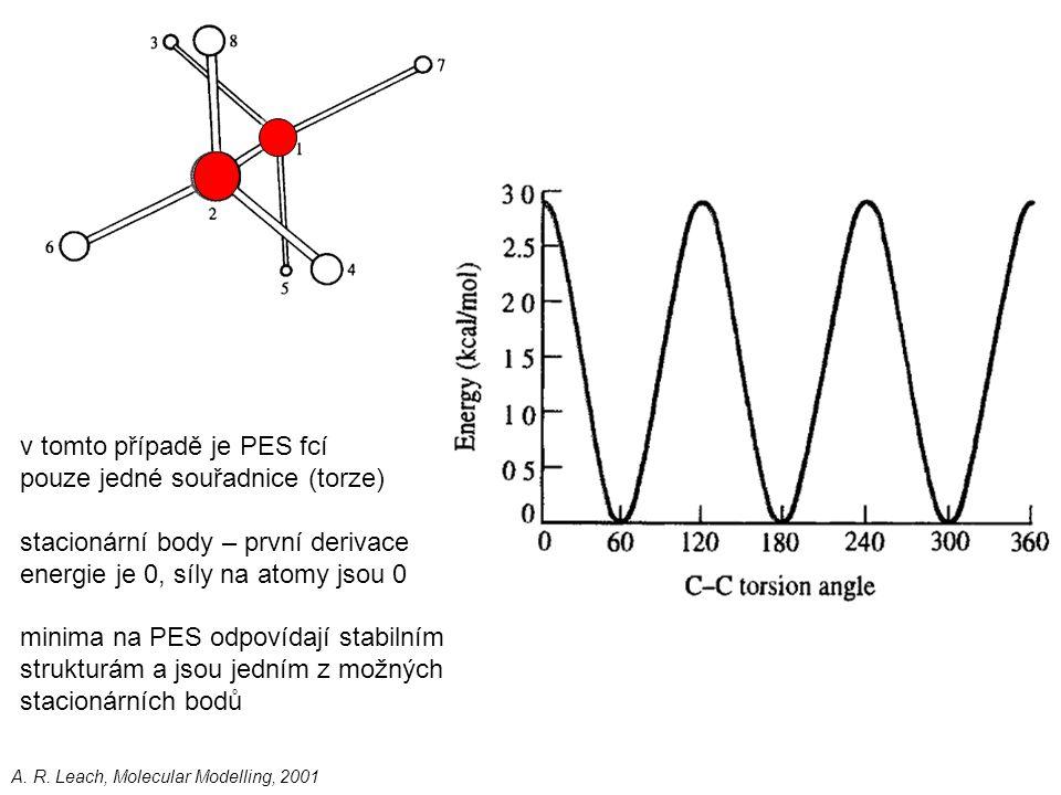 v tomto případě je PES fcí pouze jedné souřadnice (torze)