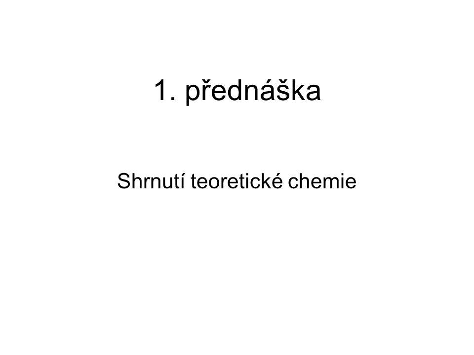 Shrnutí teoretické chemie