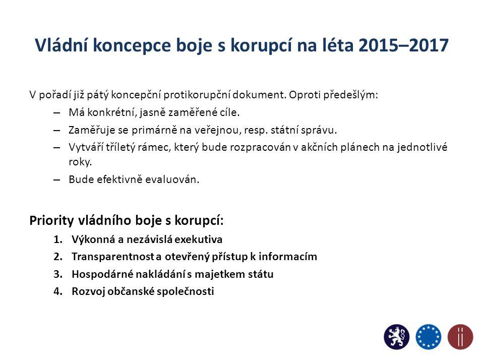 Vládní koncepce boje s korupcí na léta 2015–2017