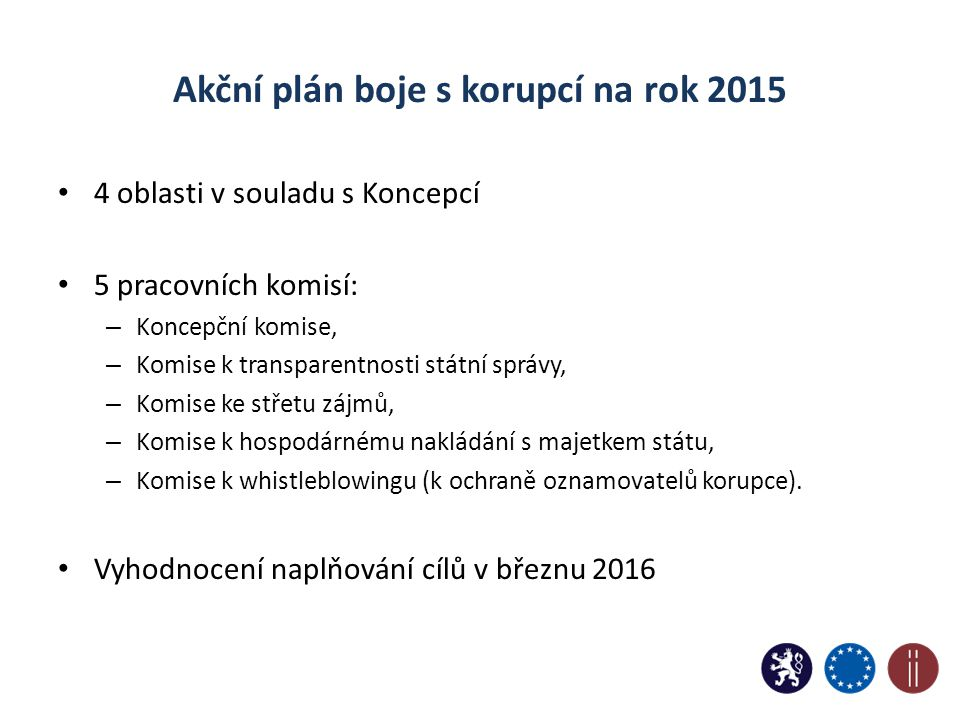 Akční plán boje s korupcí na rok 2015